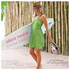 ATHLETA Sunfish Swim Dress Lime Green XS